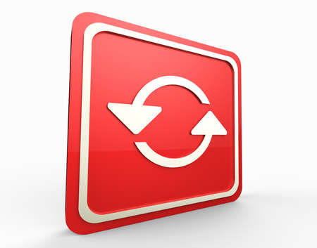 refresh red button 3D Stock Photo - 17747537