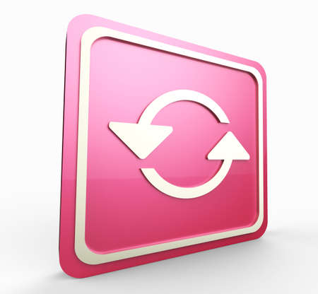 refresh pink button 3D Stock Photo