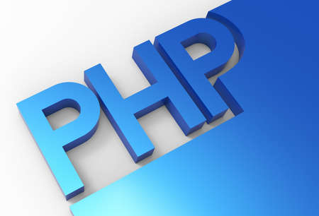 PHP Programming, 3d letters Stock Photo