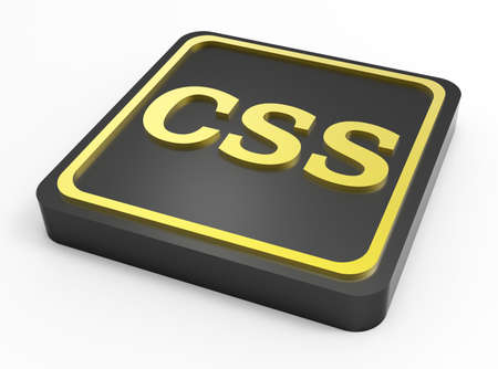 CSS code black button 3D Stock Photo - 18101502