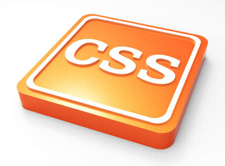 CSS code button 3D Stock Photo - 18101508