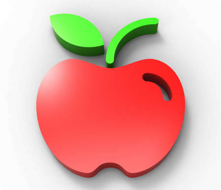 red apple design 3D  photo