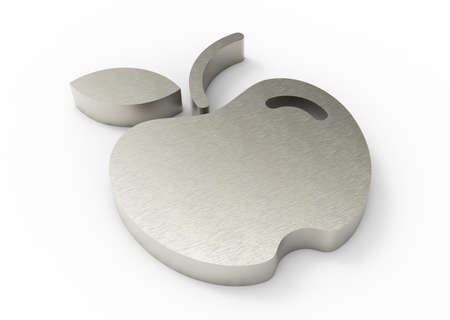 metal apple design 3D  Stock Photo - 18101527