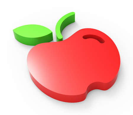 red apple design Stock Photo - 18101501