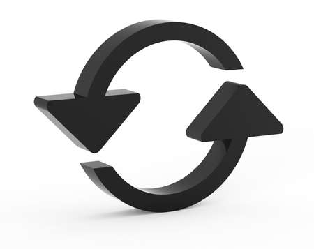 reload black circle web icon on white background Stock Photo - 18101457