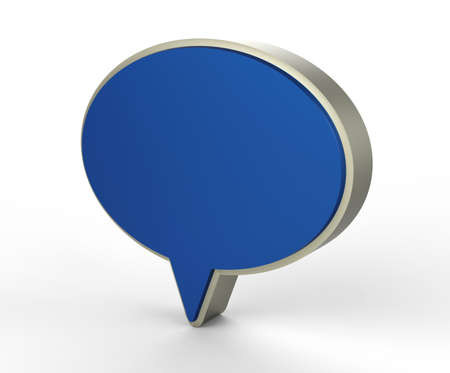 blue chat web icon 3D  Stock Photo - 18101500