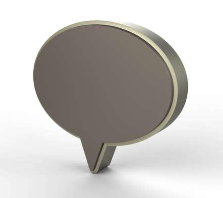 metal chat web icon 3D Stock Photo - 18101506