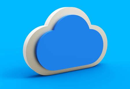 Cloud icon 3D Stock Photo - 18101510