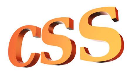 CSS code 3D Stock Photo - 18101505