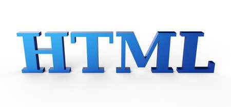 blue HTML 3D