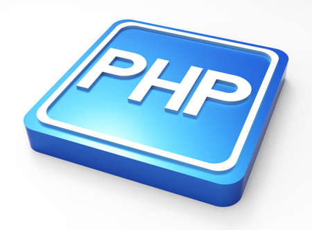 PHP Programming button 3D  Stock Photo