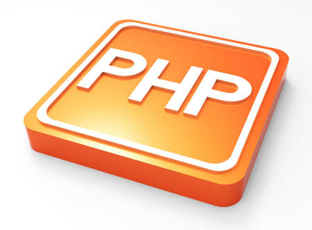 PHP Programming button 3D  Stock Photo - 18101578