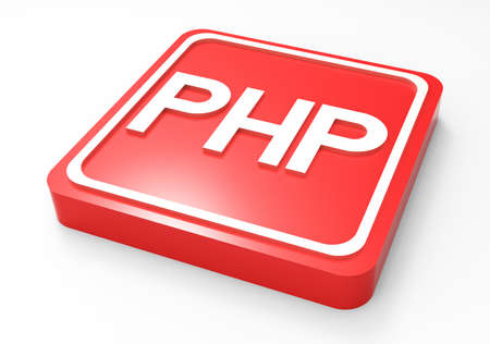 PHP code button red 3D
