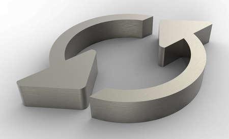 Refresh arrows metal 3D