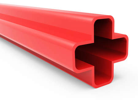 3D Plus Red Sign Stock Photo - 18101542