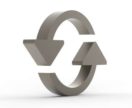 Refresh symbol metal 3D Stock Photo - 18101530