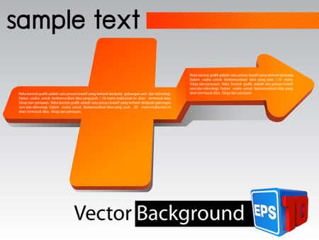 arrow background 3D Stock Vector - 19000434