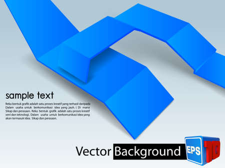 vector background blue 3D Stock Vector - 19000437