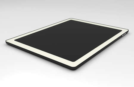 black teblet pc 3D on white background  Stock Photo