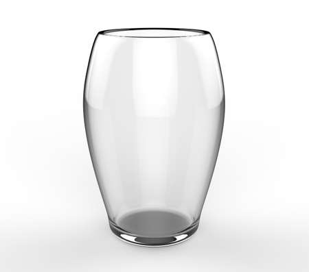 Glass on white background 3D
