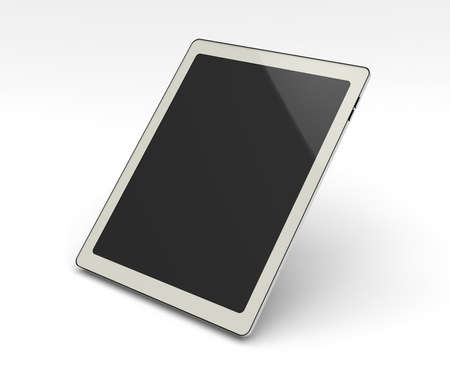 Realistic Tablet PC With Blank Screen Stock Photo
