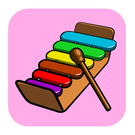 colorful child s xylophone vector