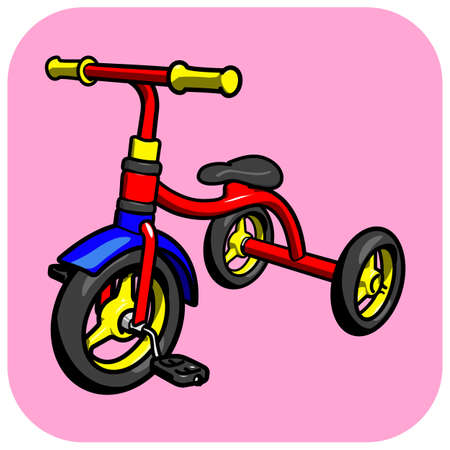 A child s tricycle vector