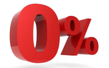 Red zero percent 3D