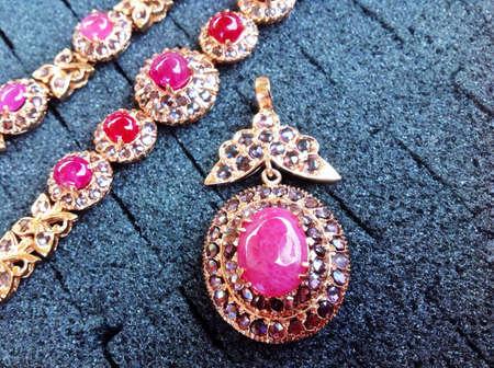 Ruby diamond stones