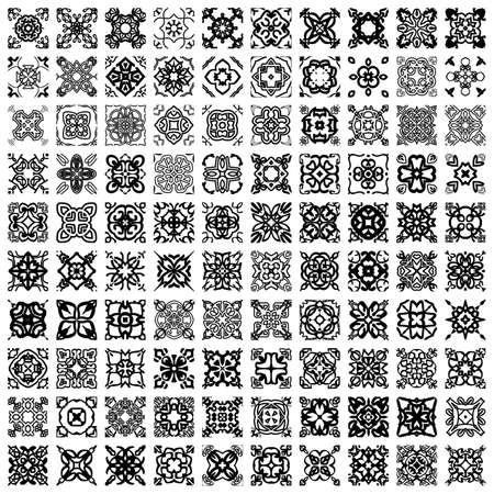 Pack of 100 seamless patterns: abstract vintage illustration. Illustration