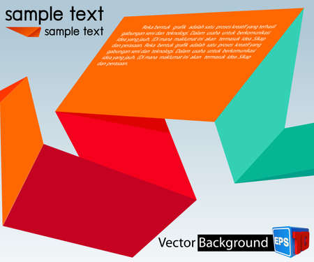 Colorful template for advertising