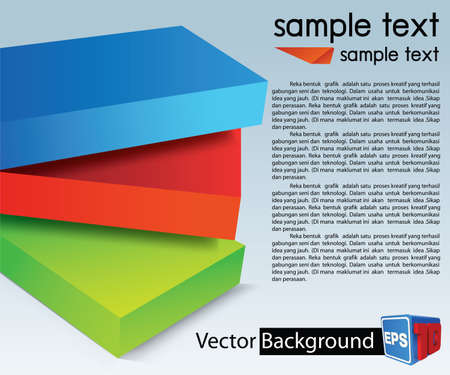 Design Layout Colorful template for advertising brochure Illustration
