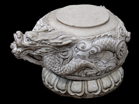 Material with Chinese stone stool 免版税图像 - 19317106
