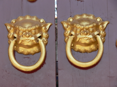 Old chinese door ornament photo