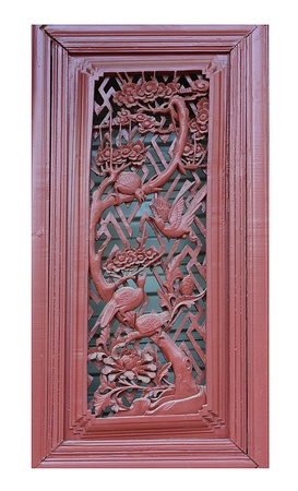 Chinese traditional wooden door local 免版税图像