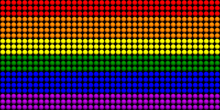 homosexuals: LGBT Flag With Spheres Effect