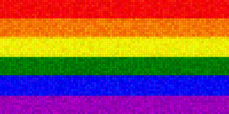 homosexuals: Bandera LGBT Con Efecto Mosaico