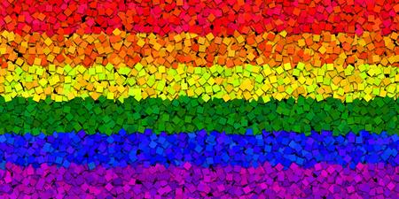 homosexuales: Bandera LGBT con pintura chips Efecto