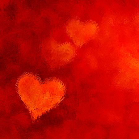 hearts background: Red Hearts Background With Frosty Effect. Stock Photo