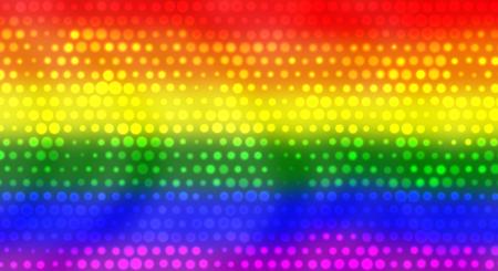 homosexuales: Bandera LGBT Con Brillante Efecto Dots Foto de archivo