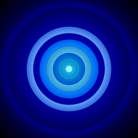 blue circles: Concentric Blue And White Circles Background Stock Photo
