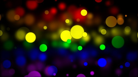 LGBT flag with Blured Circles Effect Stock Photo
