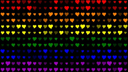 bisexual: LGBT Flag with Hearts Effect Stock Photo