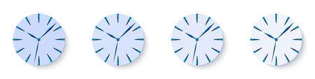 Clock face concept. Grading clock face. Clock image. Mockup clock face. Vector illustration