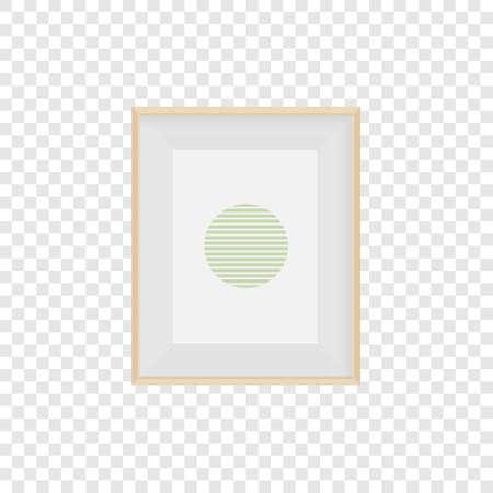 Realistic frame. Frame mockup for photo, web design, advertising. Vector illustration