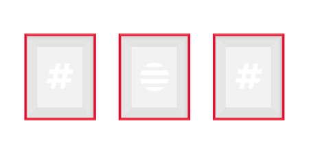 Set of realistic frames. Frames mockup for web, design, advertising. Vector illustration
