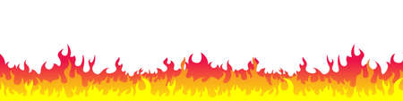 Vector fire. Fire flames isolated. Symbols Fire flames in flat design. Vector illustration Иллюстрация