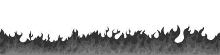 Vector fire. Fire sign. Black flame elements on a white background. Vector illustration