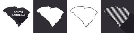 State of South Carolina. Map of South Carolina. United States of America South Carolina. State maps. Vector illustration