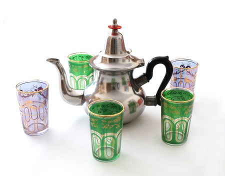 dring: teapot and glasses